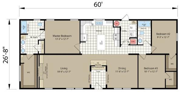 Redman Northwood A26009 Floorplan